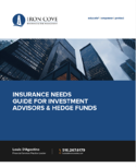 Insurance Needs Guide for <br>Investment Advisors & Hedge Funds